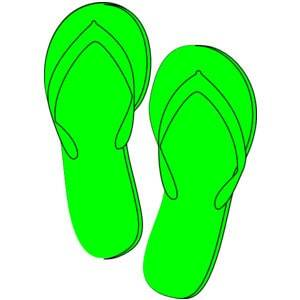green flip flops with arch support