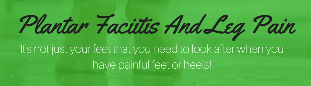 can plantar fasciitis cause leg pain header image