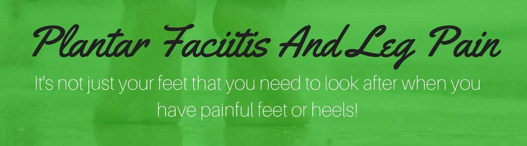 can plantar fasciitis cause leg pain header image