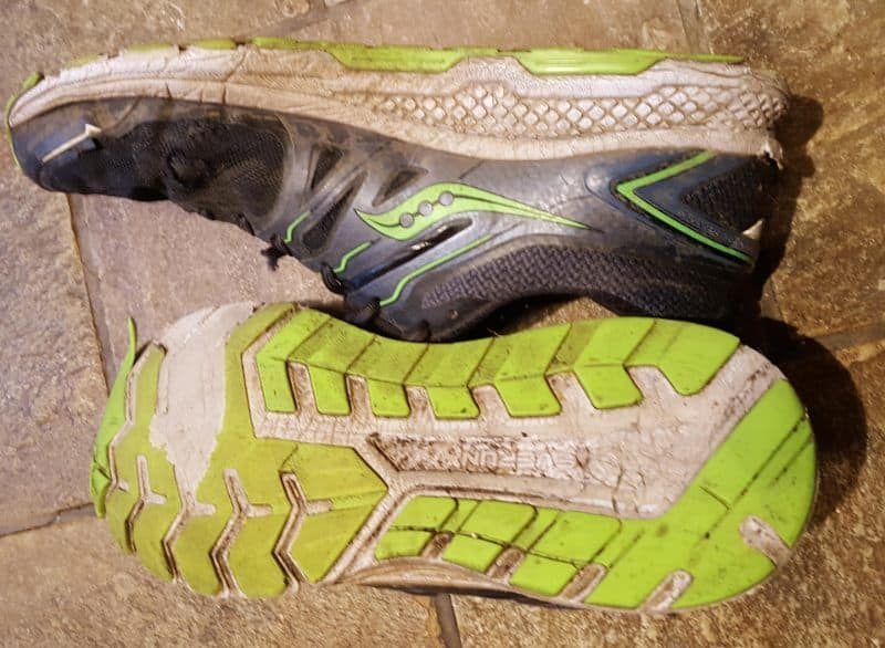 running shoe tread wear example